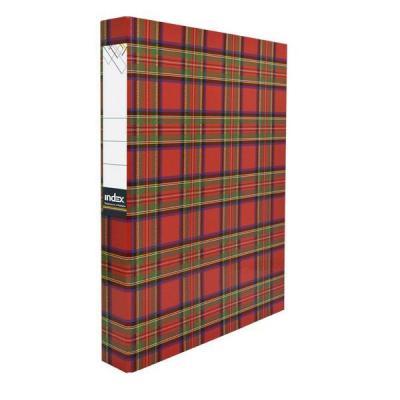 Папка-файл ламинированная на 2 кольцах, шотландка IND 2 D30/ШОТ