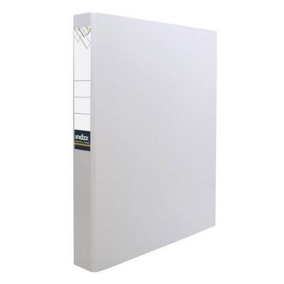 Папка-файл ламинированная на 4 кольцах, белая IND 4 D30/БЕЛ