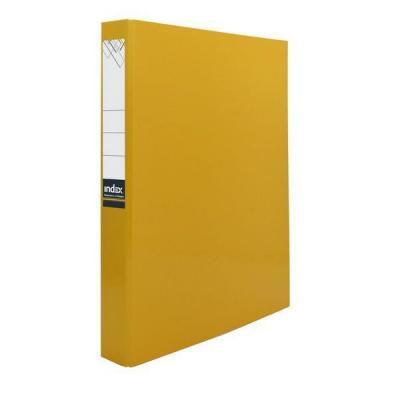 Папка-файл ламинированная на 4 кольцах, желтая IND 4 D30/ЖЕЛ