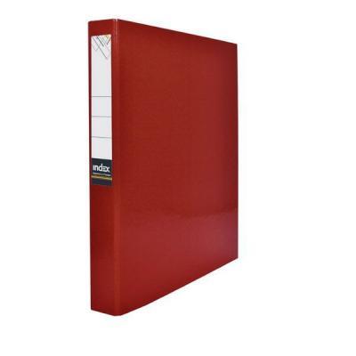 Папка-файл ламинированная на 4 кольцах, красная IND 4 D30/КР