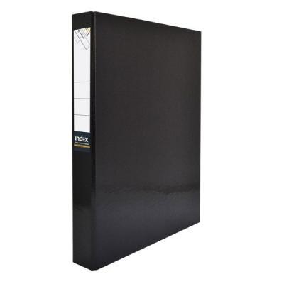 Папка-файл ламинированная на 4 кольцах, черная IND 4 D30/ЧЕР папка a4 4 кольца черная rb 16 4 06