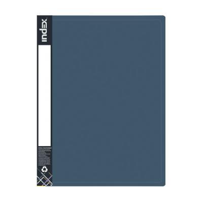 Папка пластиковая METALLIC, на 4 кольцах, синяя IRB20/4/10/BU