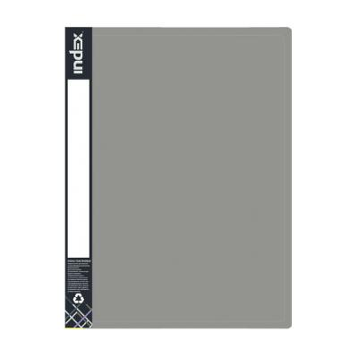 Папка пластиковая METALLIC, на 4 кольцах, серый IRB20/4/10/GY