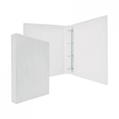 Папка-файл на 4 кольцах, белая, PVC, 35 мм, диаметр 20мм 08-1693-2/БЕЛ