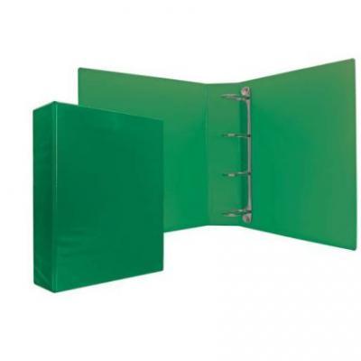 Папка-файл на 4 кольцах, зеленая, PVC, 35 мм, диаметр 20мм 08-1693-2/ЗЕЛ
