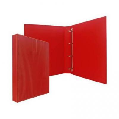 Папка-файл на 4 кольцах, красная, PVC, 35 мм, диаметр 20мм 08-1693-2/КР