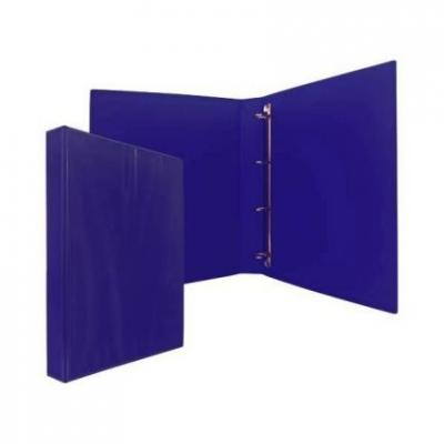 Папка-файл на 4 кольцах, темно-синяя, PVC,35 мм, диаметр 20мм 08-1693-2/ТС