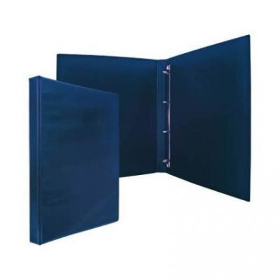 Папка-файл на 4 кольцах, темно-синяя, PVC, 25 мм, диаметр 16мм 08-2720-2/ТС