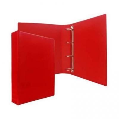 Папка-файл на 4 кольцах, красная, PVC, 50 мм, диаметр 35мм 08-2765-2/КР