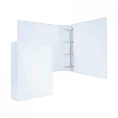 Папка-файл на 4 кольцах, белая, PVC, 75 мм, диаметр 50мм 08-2775-2/БЕЛ
