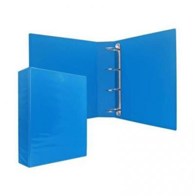 Папка-файл на 4 кольцах, голубая, PVC, 75 мм, диаметр 50мм 08-2775-2/ГОЛ