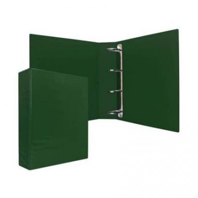 Папка-файл на 4 кольцах, зеленая, PVC, 75 мм, диаметр 50мм 08-2775-2/ЗЕЛ