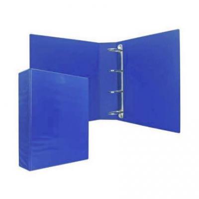 Папка-файл на 4 кольцах, темно-синяя, PVC, 75 мм, диаметр 50мм 08-2775-2/ТС