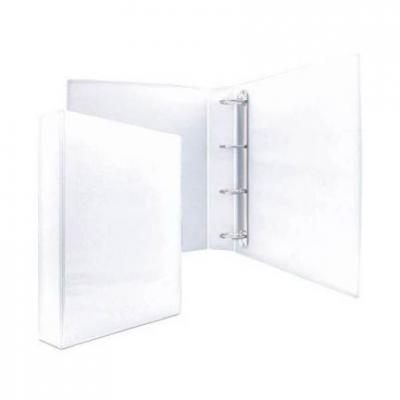 Папка-файл на 4 кольцах, белая, PVC, 50 мм, диаметр 35мм 08-2765-2/БЕЛ