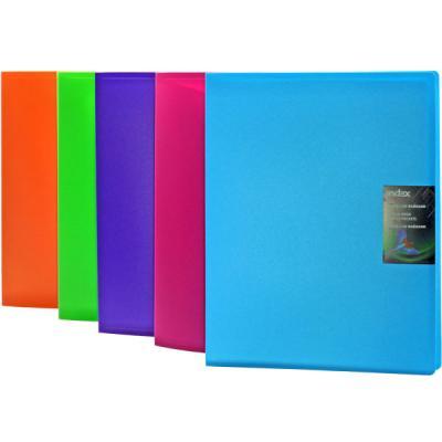 Папка с 60 файлами COLOURPLAY, ф.A4, 0,9мм, прозрачная, ассорти ICPD60/ASS цена и фото