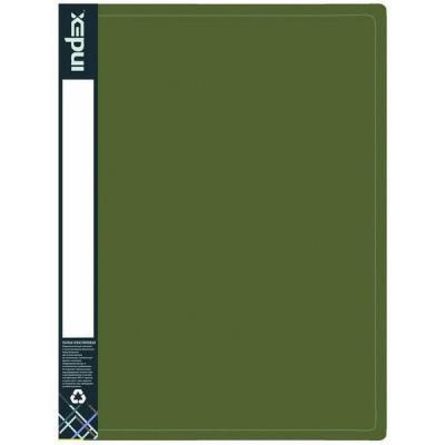 Папка с 10 файлами METALLIC, A4, зеленая IDB10/10/GN