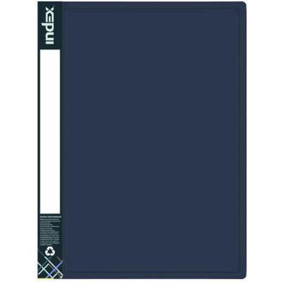 Папка с 100 файлами METALLIC, A4, синяя IDB100/10/BU