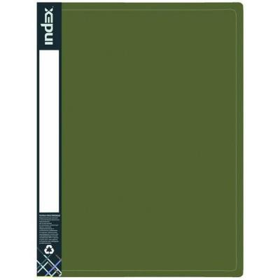 Папка с 100 файлами METALLIC, A4, зеленая IDB100/10/GN