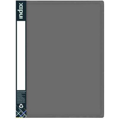 Папка с 100 файлами METALLIC, A4, серая IDB100/10/GY