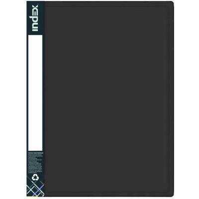 Папка с 80 файлами METALLIC, A4, черная IDB80/10/BK