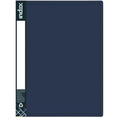 Папка с 30 файлами METALLIC, A4, синяя IDB30/10/BU
