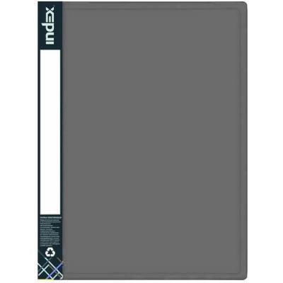 Папка с 60 файлами METALLIC, A4, серая IDB60/10/GY