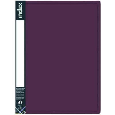 Папка с 80 файлами METALLIC, A4, бордовая IDB80/10/RD