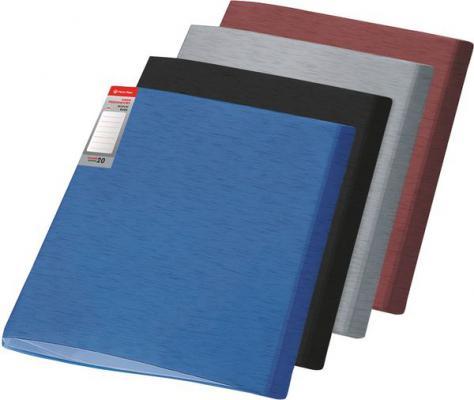 цена на Папка с файлами SIMPLE, ф.А4, 20 файлов, бордовый, материал PP, плотность 450 мкр 0410-0055-10