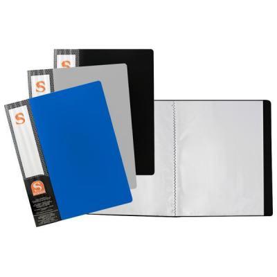 Папка с 10 файлами, форзац, ф.А4, ассорти SDB10/ASS