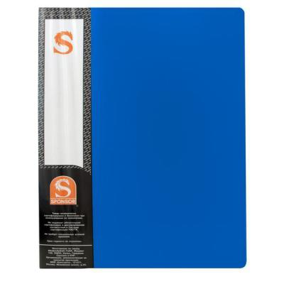 Папка с 10 файлами, форзац, ф.А4, синяя SDB10/BU