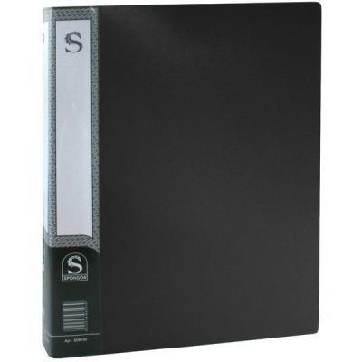 Папка с 100 файлами, форзац, ф.А4, черная SDB100/BK