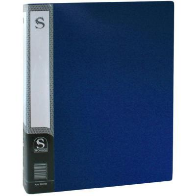 Папка с 100 файлами, форзац, ф.А4, синяя SDB100/BU