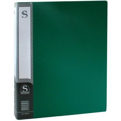Папка с 100 файлами, форзац, ф.А4, зеленая SDB100/GN