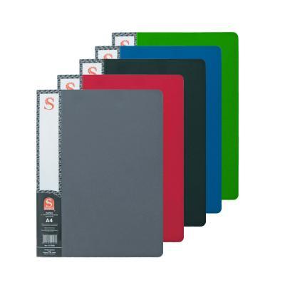 Папка с 20 файлами, форзац, ф.А4, ассорти SDB20/ASS