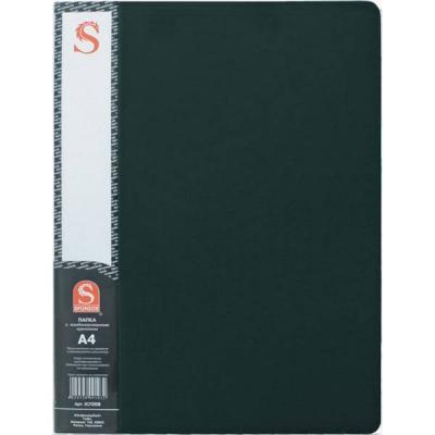 Папка с 20 файлами, форзац, ф.А4, черная SDB20/BK
