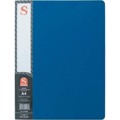 Папка с 20 файлами, форзац, ф.А4, синяя SDB20/BU папка с 20 файлами форзац ф а4 ассорти sdb20 ass spec 1