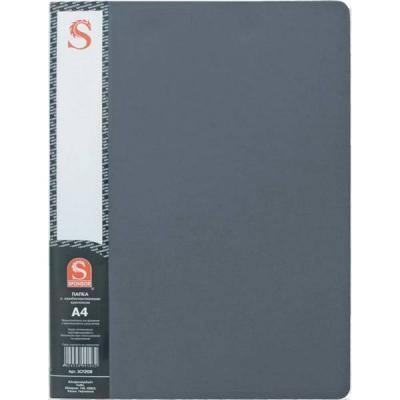 Папка с 20 файлами, форзац, ф.А4, серая SDB20/GR папка с 20 файлами форзац ф а4 ассорти sdb20 ass spec 1