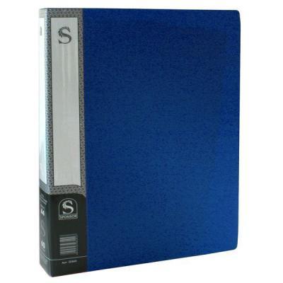 Папка с 60 файлами, форзац, ф.А4, синяя SDB60/BU