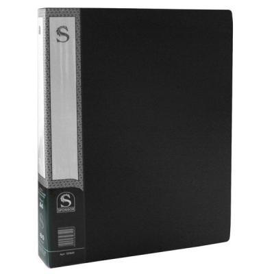 Папка с 80 файлами, форзац, ф.А4, черная SDB80/BK