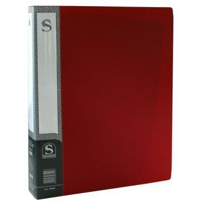 Папка с 80 файлами, форзац, ф.А4, красная SDB80/RD