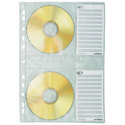 Вкладыш с перфорацией для 4х CD-дисков, ф. А4, 5 шт. 5222-19