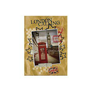 Папка-конверт с кнопкой CITY TRIPS LONDON, ф.А4, полипропилен 11296753