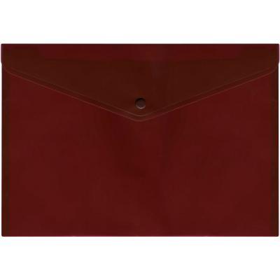 Папка-конверт с кнопкой, полупрозрачный, красный, A4 IPF352/RD IPF352/RD