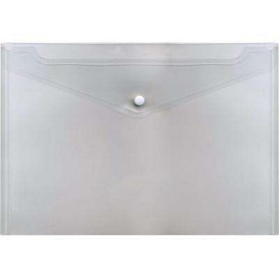 Папка-конверт с кнопкой, полупрозрачный, A4 IPF352/TR