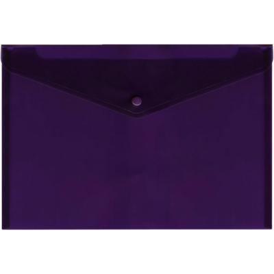 Папка-конверт с кнопкой, полупрозрачный, фиолетовый, A4 IPF352/VL