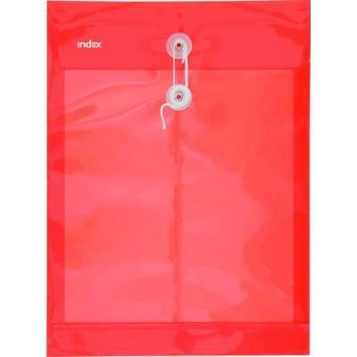 Папка-конверт на завязках, красная, A4 IPF364/RD