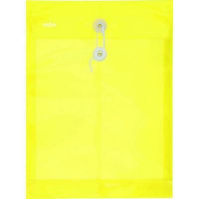 Папка-конверт на завязках, желтая, A4 IPF364/YL
