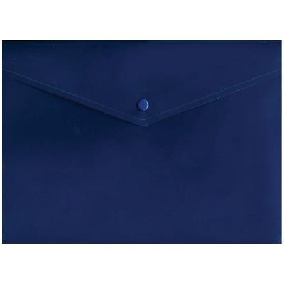 Папка-конверт с кнопкой, синяя, A4 IPF371/BU