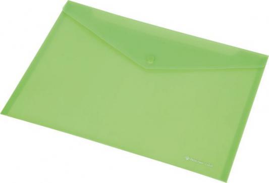 Папка-конверт на кнопке FOCUS, ф. А4,вместител.120 листов, PP,160 мкр, зеленый 0410-0030-04