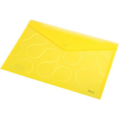 Папка-конверт OMEGA, ф. A4, прозрачная, желтый, материал PP, плотность 200 мкр 0410-0031-06